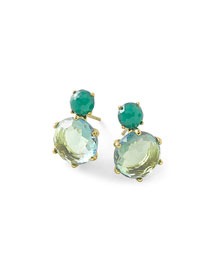 18k Rock Candy 2-Stone Post Earrings