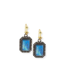 Old World Malachite/Rainbow Moonstone Drop Earrings
