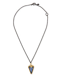 Old World Triangle Pendant Necklace