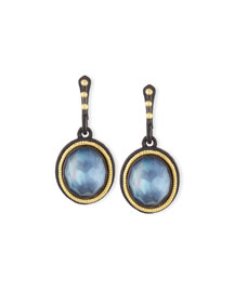 Old World Triplet Oval Drop Earrings