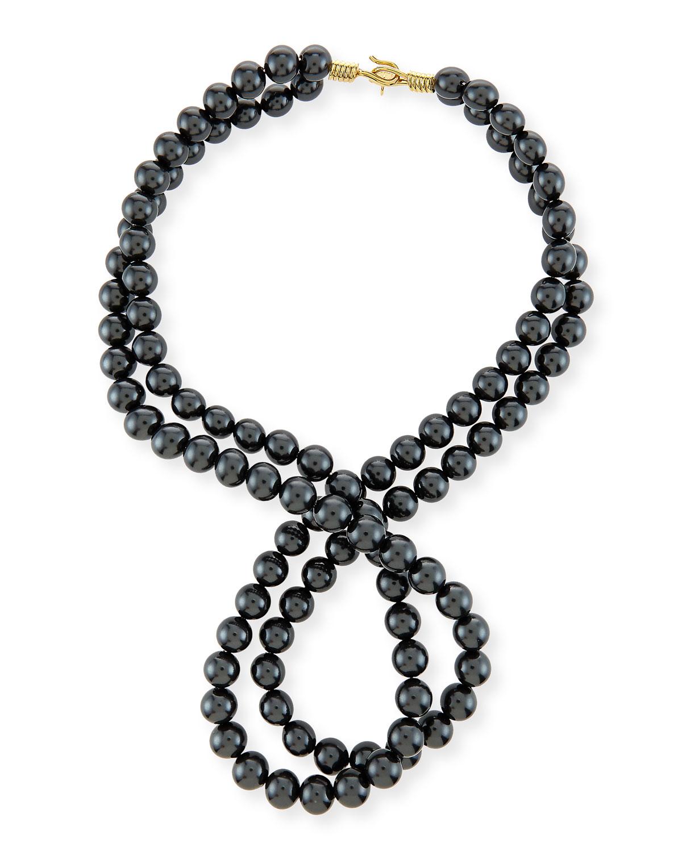 Stella McCartney Swarovski® Crystal-Pearl Two-Strand Necklace, PURE WHITE