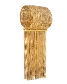 Delfine Rigid Brass Chain Bracelet