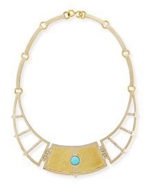 Sue??o Frida Breastplate Necklace with Turquoise