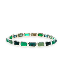Rock Candy Small Brick Bangle Bracelet, Neptune
