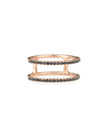 Black Diamond Double Spiral Ring