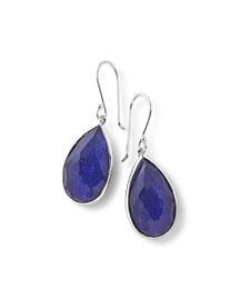 925 Rock Candy Pear Lapis Doublet Earrings