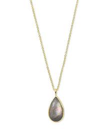 Rock Candy?? Teardrop Pendant Necklace in Black Shell