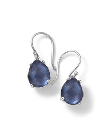 925 Wonderland Pear Drop Earrings, Midnight