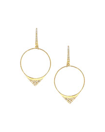 Small Electric Diamond Hoop Earrings