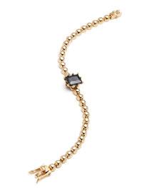 Dome Estate Ball Bracelet, Golden/Jet
