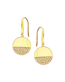 Illusion Pav?? Diamond Disc Earrings