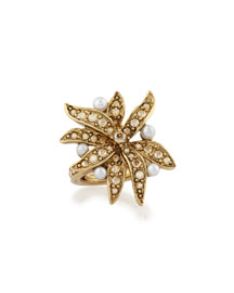 Swarovski� Pearl Flower Ring