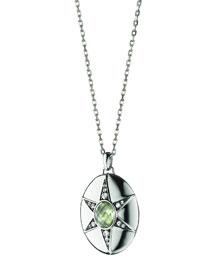 Prasiolite & White Sapphire Locket Necklace, 32