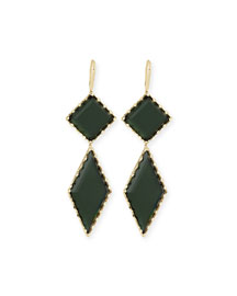 14K Gold Midnight Drop Earrings