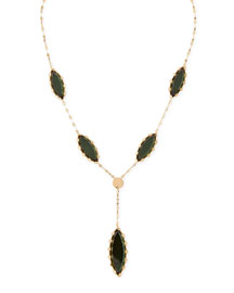 Mega Midnight Marquise Lariat Necklace