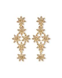 Pav� Swarovski� Flower Drop Earrings