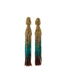 Ombre Swarovski� Crystal Tassel Earrings