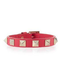 Leather Rockstud Small Bracelet
