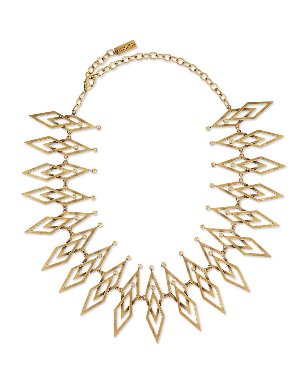 Auden Dakota Brass Statement Necklace, BRONZE