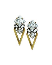 Montana Crystal Arrow Earrings