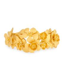 Golden Garden Party Cuff Bracelet