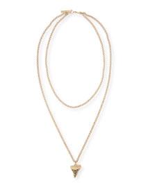 Golden Shark Tooth Necklace