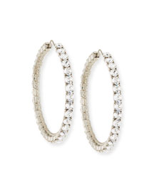 Rosario Swarovski� Crystal Hoop Earrings