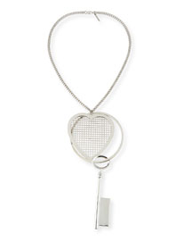 Heart & Key Pendant Necklace