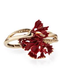 Swarovski� Enamel Carnation Bracelet, Ruby