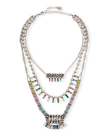 Velia Three-Strand Necklace