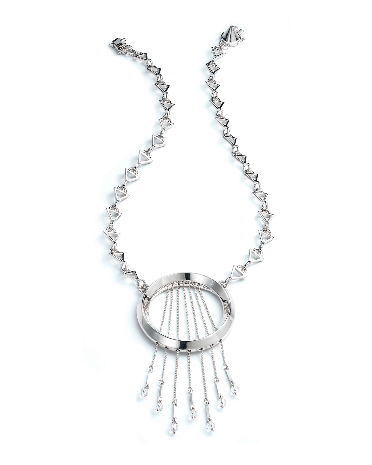 Eddie Borgo Oracle Statement Fringe Necklace, Silvertone, GOLD