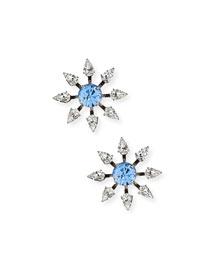 Constantina Crystal Stud Earrings