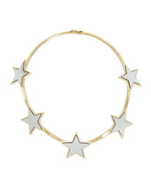 Hinged Brass Star Collar Necklace