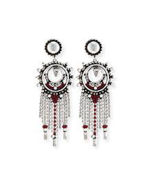 Vitula Crystal Fringe Drop Earrings