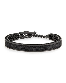 Zenith Pav� Crystal Cuff Bracelet, Gunmetal