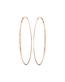 Large 14K Oval Magic Hoop Earrings
