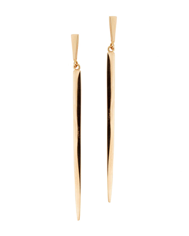 Lana Short 14K Gold Sheer Earrings, YELLOW GOLD