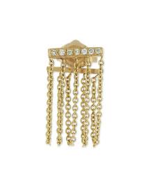 Bar Chain Single Stud Earring w/Pav� Diamonds