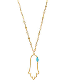Annaliese Hamsa Pendant Necklace, 25