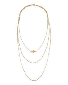 18K Annette Three-Strand Hamsa Necklace