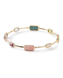 18K Rock Candy 8-Stone Bangle in Summer Rainbow