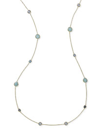 18K Gold Rock Candy� Long Station Necklace, Waterfall