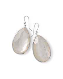 Large Pear-Shaped Earrings in Clear Doublet