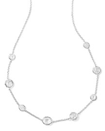 Sterling Silver Wonderland Mini Gelato Short Station Necklace in Flirt, 16-18