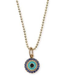 Turquoise Evil Eye Pendant Necklace