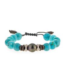 New World Tahitian Pearl & Magnesite Bracelet w/Diamonds