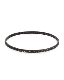 New World Midnight Bangle with Champagne Diamonds
