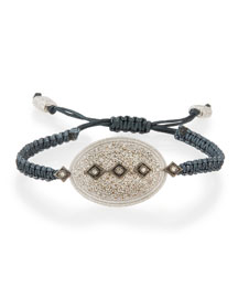 New World Midnight Pav� Diamond Pull-Cord Bracelet