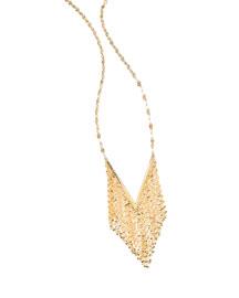 14K Mega Fringe Pendant Necklace