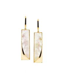 Satin Mother-of-Pearl Bar Earrings
